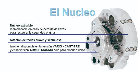 Cerradura Mottura 3d key nucleo